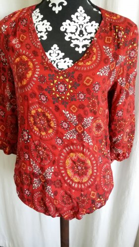 Bluse Rot Muster