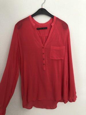 Bluse, Rot, Zara, Gr. 36