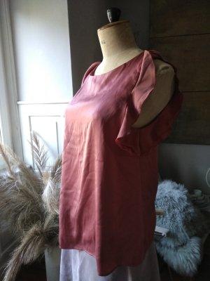 H&M Bluzka z falbankami w kolorze różowego złota-stary róż