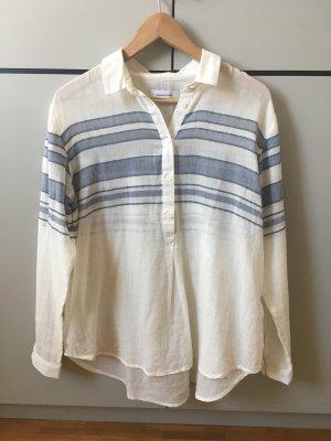 Samsøe & samsøe Oversized blouse wolwit-lichtblauw Katoen