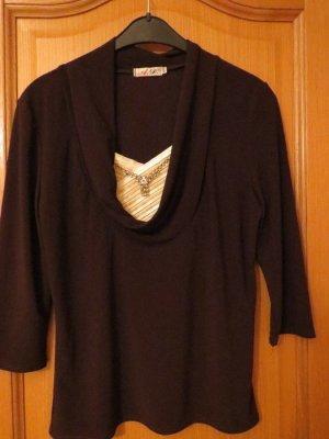 Waterval shirt bruin