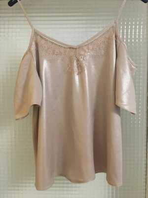 C&A Blusa brillante color rosa dorado