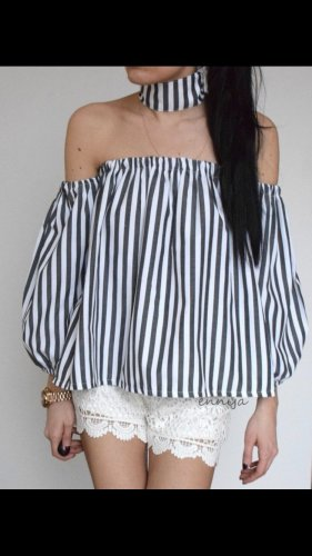 Bluse Schulter offen M