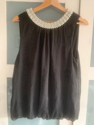 Hallhuber Silk Blouse black silk