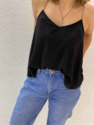 Pull & Bear Backless Top black-gold-colored