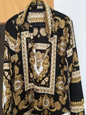 Blouse Collar black-gold-colored