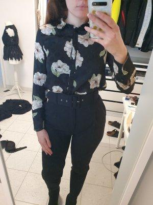Zara Hemdblouse wit-zwart