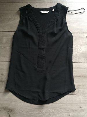 Bluse schwarz mit Spitze Gr. XS