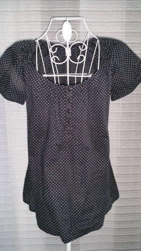 Bluse schwarz mit Tupfen