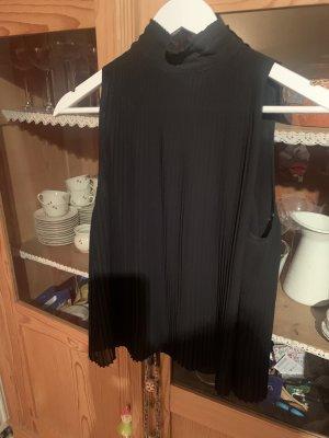 Bluse schwarz Plissiert