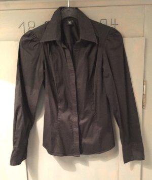 Bluse schwarz tailliert Gr. 34 xs H&m