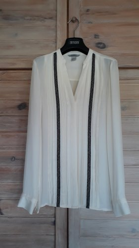 Bluse schwarz/ weiß