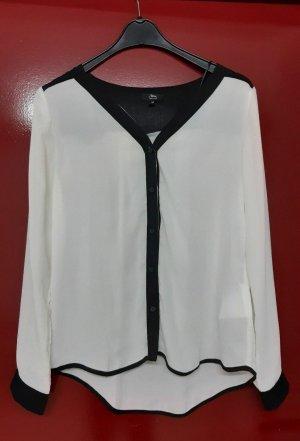 Bluse schwarz weiß Gr.M von Ann Christine