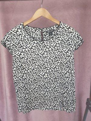 Bluse schwarz/weiß, Größe 46