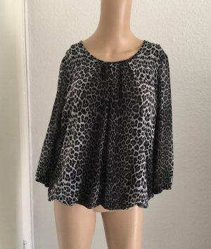 Bluse schwarz/weiß in Animal Look