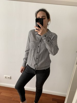 Bluse schwarz/weiß Mango Gr. M