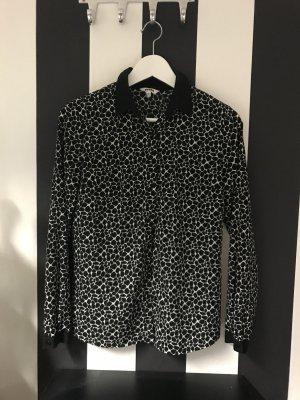 Bluse schwarz weiß Muster