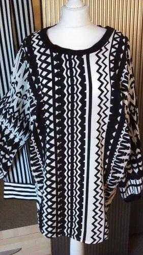 Bluse schwarz-weißer Mustermix Größe geschätzt 42/44