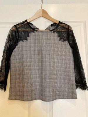 Bluse schwarze Spitze Zara