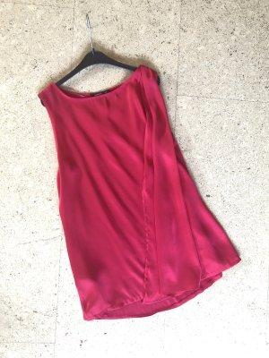 Bluse Seidenoptik mit Schleppe, pink, Mango