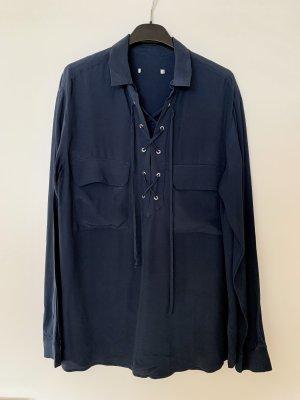 Set Blusa de manga larga azul oscuro