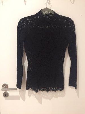 H&M Blusa de encaje negro