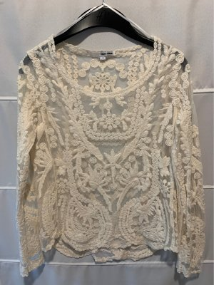 telly Weijl Lace Blouse natural white