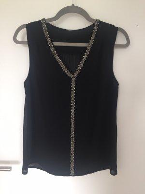 Bluse Shirt mit Perlen Vero Moda