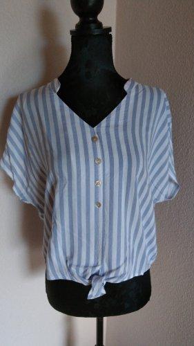 Bluse Shirt orsay 38 M blau weiß gestreift