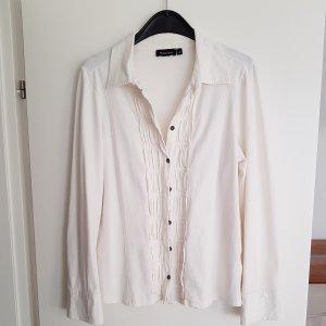 .12 puntododici Blusa Camisa blanco puro-crema Algodón
