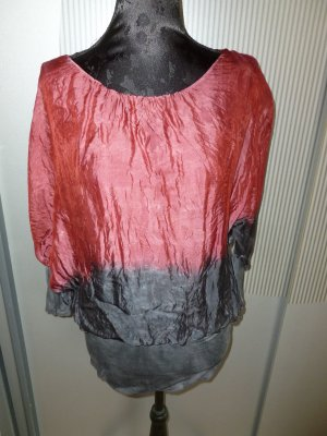 Bluse Shirt purpur-rot grau Made in Italy