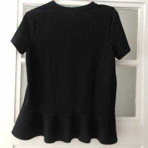 Bluse/ Shirt schwarz mit Schößchen Banana Republic S