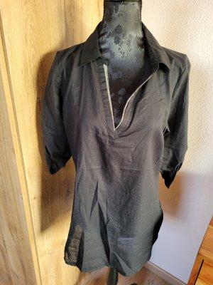 Bluse Shirt schwarz Orsay