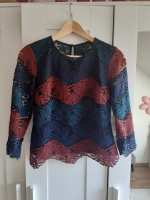 Reserved Blusa de encaje multicolor