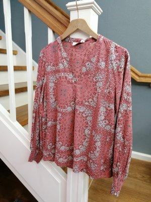 Bluse Shirt Tunika Cream Rose Druck 42