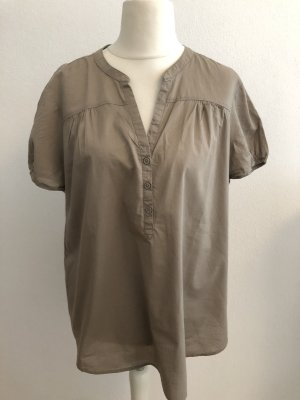 Bluse Shirt Tunika locker luftig taupe Gr. 48