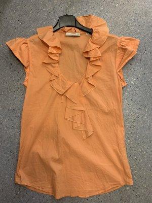 Aglini Ruche blouse abrikoos