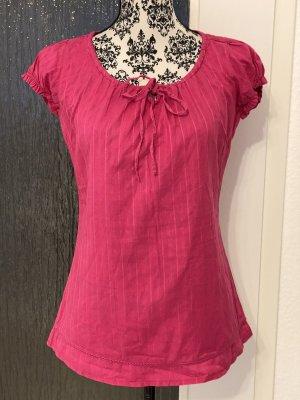Amisu Blusa de manga corta rosa-rojo frambuesa