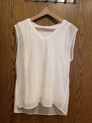 Opus V-Neck Shirt white