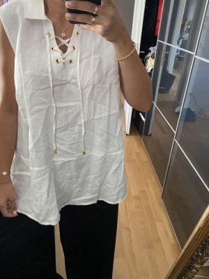 Ellen Tracy Blouse en lin blanc