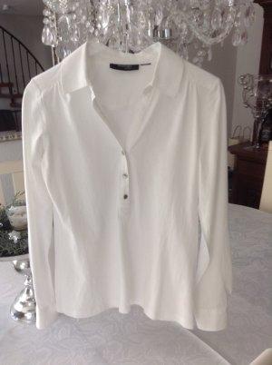 Bluse-Shirt / weiß / Gr. S/M