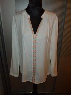 Bluse Shirt weiß orange grau Biba Crisca Neu