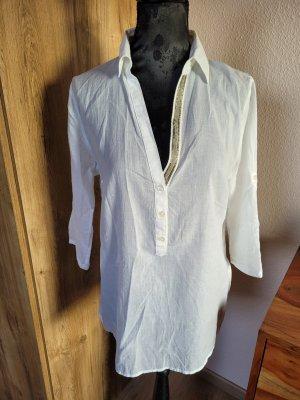 Bluse Shirt weiß Orsay