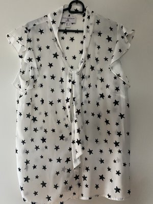 Bluse Shirt XL 42 weiss schwarz Sterne