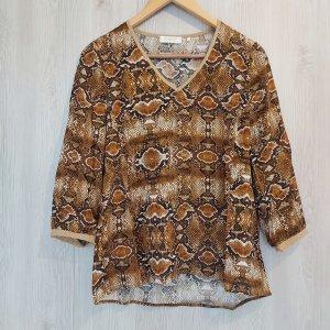 Bluse Shirtbluse braun Herbst hochwertig