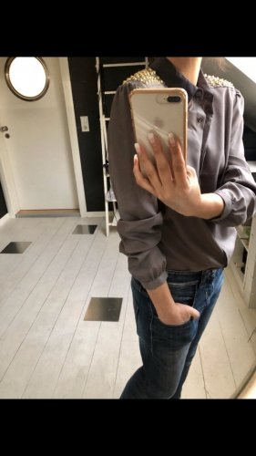 Silvian heach Blouse à manches longues gris