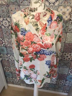 Bluse Sommer Blumen in L