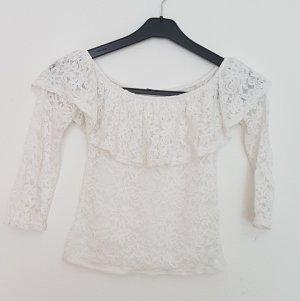 Vintage Oversized blouse wit-wolwit