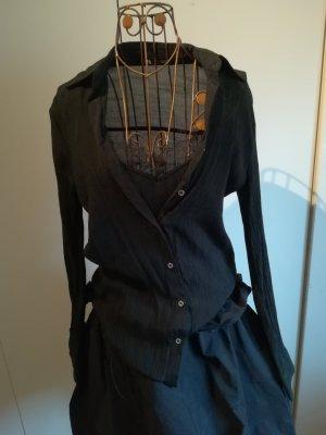 Zara Koronkowa bluzka czarny