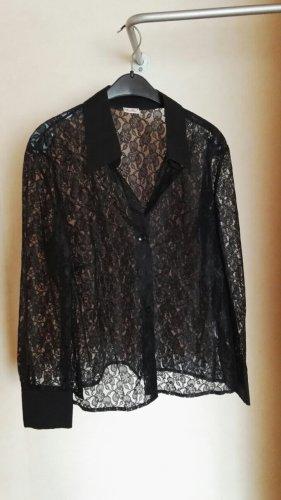 Maria Bellesi Koronkowa bluzka czarny